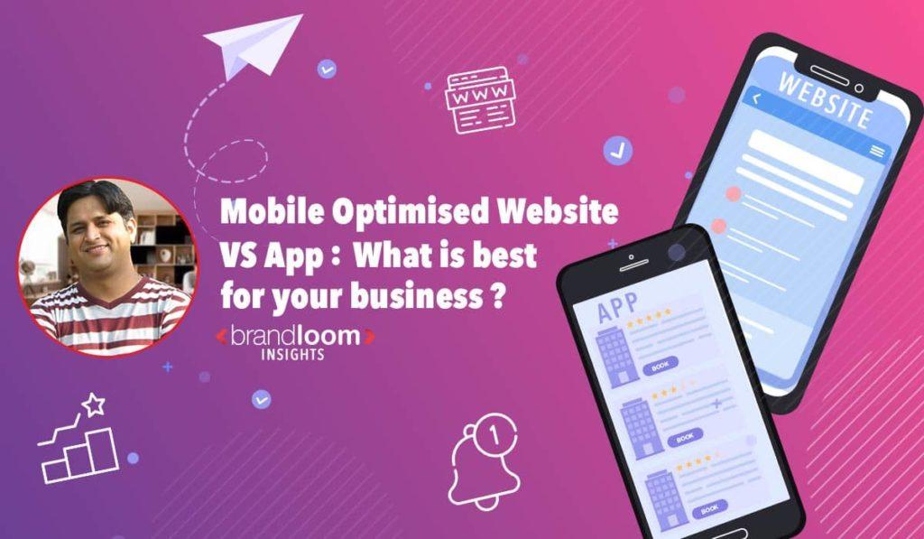 mobile optimised website vs app