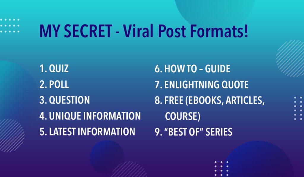 Secret! - Viral Social Post Formats!